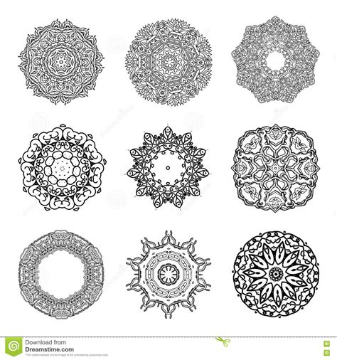 Islamic Round Pattern Vector | set mandalas round ornament indian or islamic pattern
