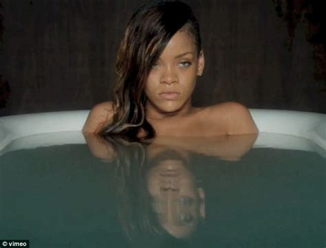 bathroom naked video rihanna strips off for an emotional soak in the bath in