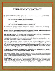 sle employment contract free word s templates