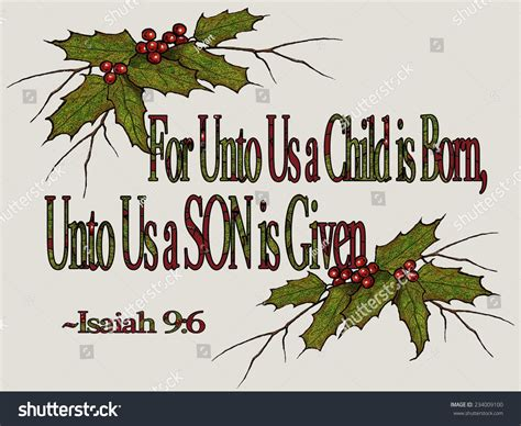 pinterest christmas scripture art religious bible verse isaiah stock illustration 234009100