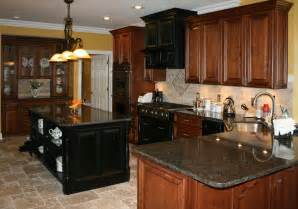 tile kitchen cabinets light colored oak cabinets with granite countertop