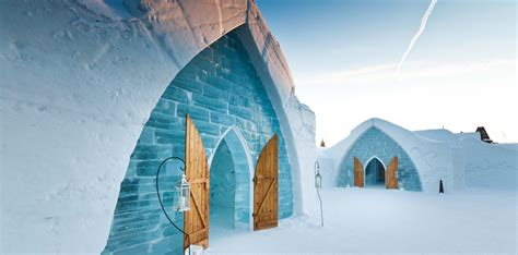 hotel de glace canada the most unusual hotels around the world biniblog