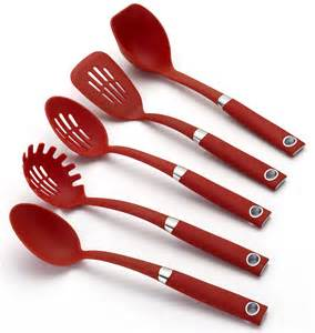 Red Kitchen Tools - catalog detail rachael ray red 5 piece cooking utensil set