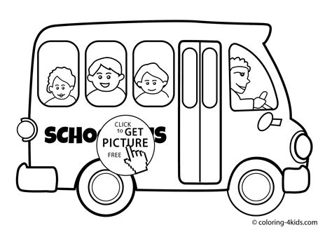 free coloring page of school bus school bus transportation coloring pages for kids printable