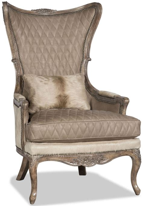 Animal Print Armchair by Quilted Leather And Animal Print Armchair