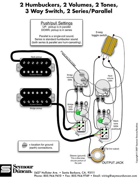 two humbucker w 1 volume and 2 tone 5 way switch wiring