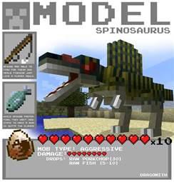 Minecraft Papercraft Dinosaur - minecraft spinosaurus by dragonith on deviantart