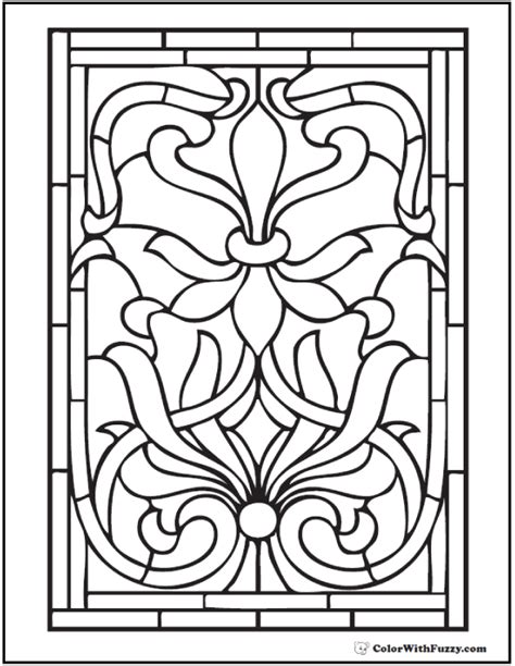 42 Adult Coloring Pages Customize Printable Pdfs Tree Stained Glass Coloring Page