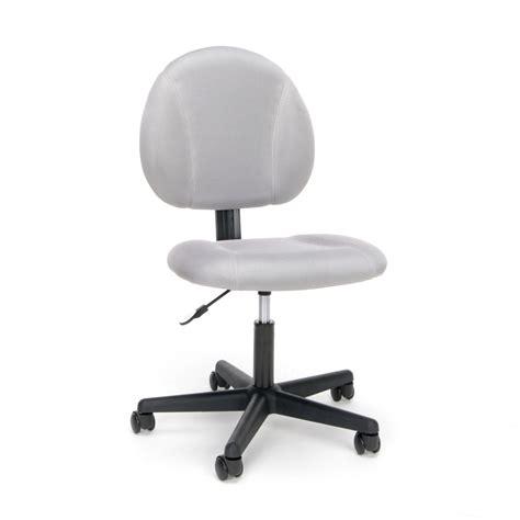armless task chair swivel upholstered armless task chair black or gray
