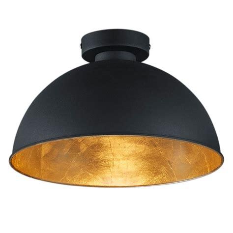 deckenleuchter schwarz deckenleuchte kumamoto metall 1 flammig schwarz gold
