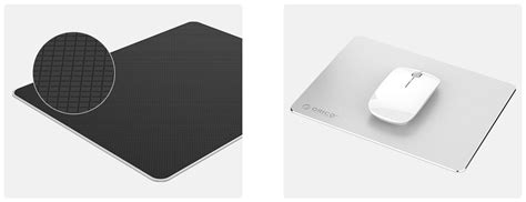 Orico Mini Aluminium Mouse Pad 220 X 180mm 2218 Silver Mousepad orico mini aluminium gaming mouse pad 220 x 180mm