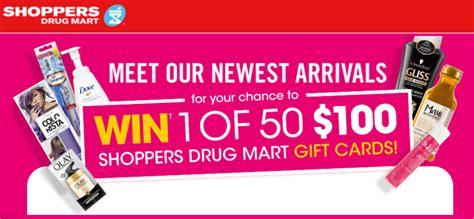 Smart Shoppers 100 Gift Card - shoppers drug mart contests win 1 of 50 100 shoppers drug mart gift cards canadian
