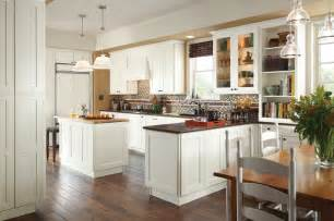 Cognac Kitchen Cabinets wonderfully in white