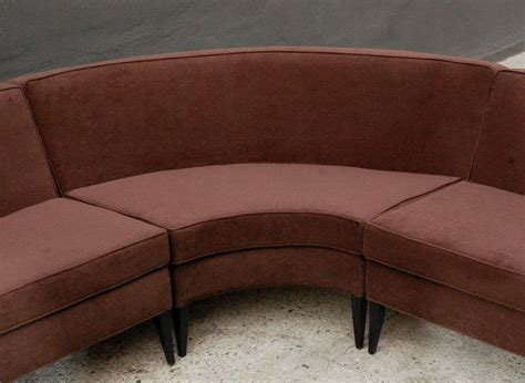 3 piece sectional couch three piece curved sectional sofa by harvey probber at 1stdibs