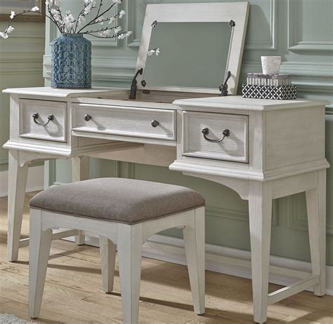 bayside youth white vanity desk from liberty coleman