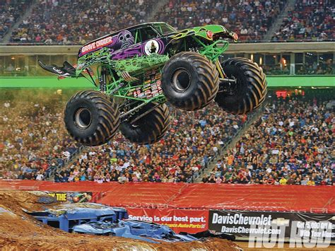 who drives grave digger monster truck what it s like to drive a monster truck rod network