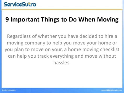 9 necessary things to do before you move into your new 9 things to do before you move home moving checklist