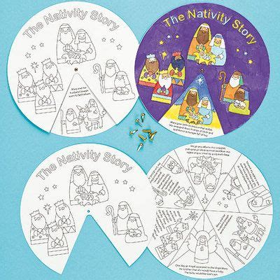 baker ross nativity story wheels pack of 3 kids