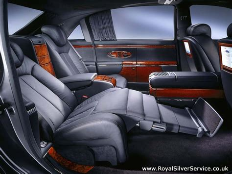 inside maybach maybach 62 chauffeur hire