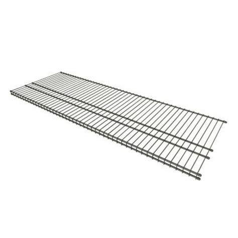 Closetmaid 16 Shelf Closetmaid Superslide 4 Ft X 16 In Steel Nickel
