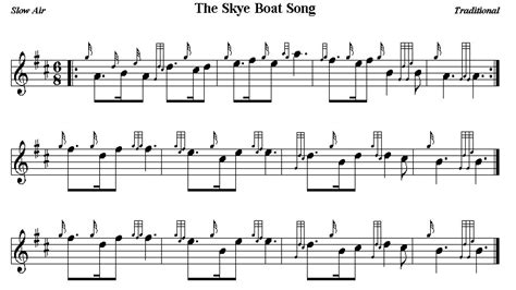 boat home song the skye boat song bagpipe sheet music pinterest boating