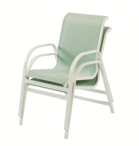 Sling Chair Material pool furniture supply dining chair fabric sling aluminum