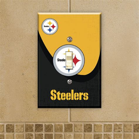 steelers home decor nfl pittsburgh steelers toggle switch plate fitness