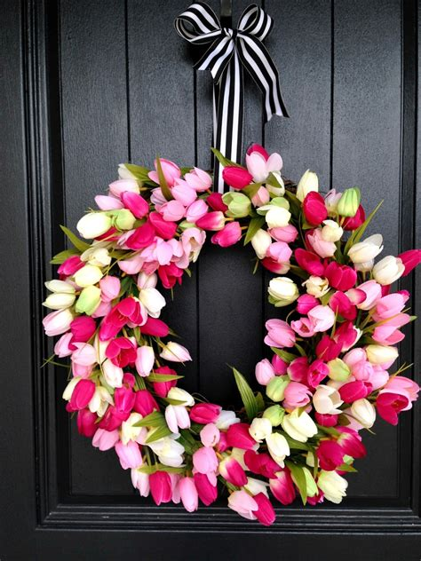 springtime wreaths life love larson diy spring tulip wreath