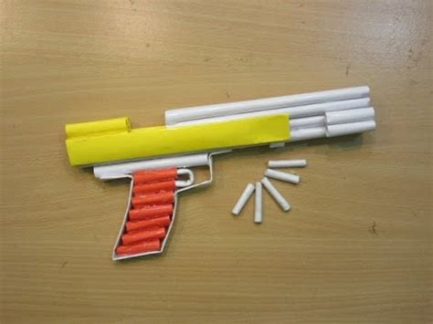 How To Make A Pistol Out Of Paper - how to make a paper airsoft gun paper pistol desert