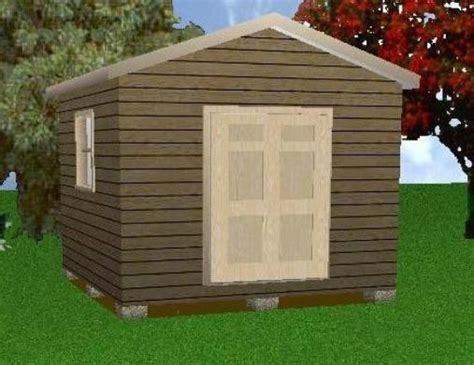 12x12 storage shed plans package blueprints material list instructions ebay
