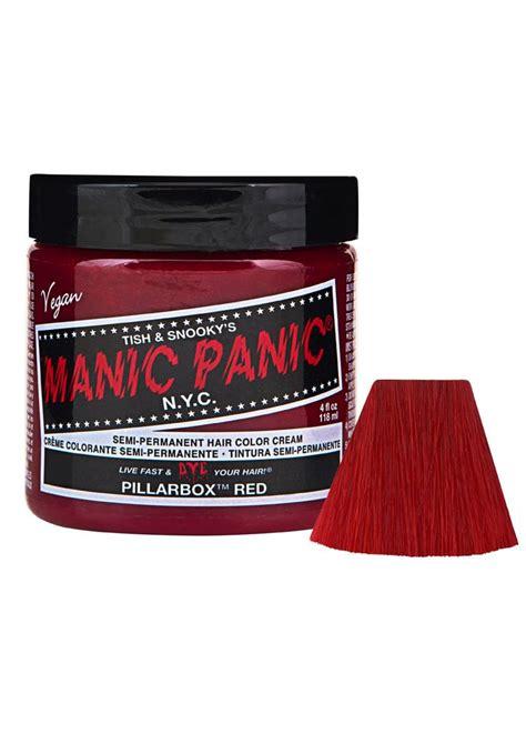 manic panicbox dye manic panic pillar box red semi permanent hair dye
