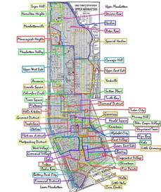 Map Of New York City Suburbs by Manhattan Neighborhoods Mapsof Net