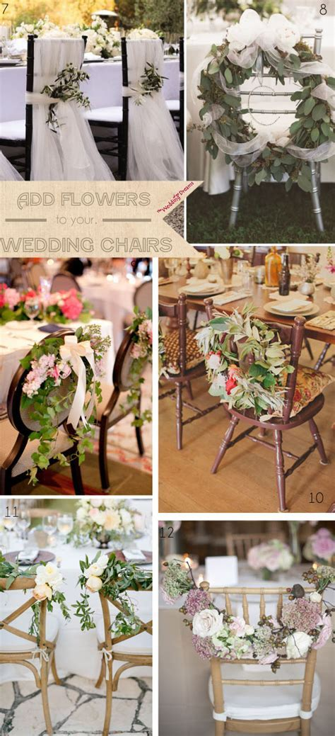 Beautiful Chair Decorations Wedding Ideas   UK Wedding