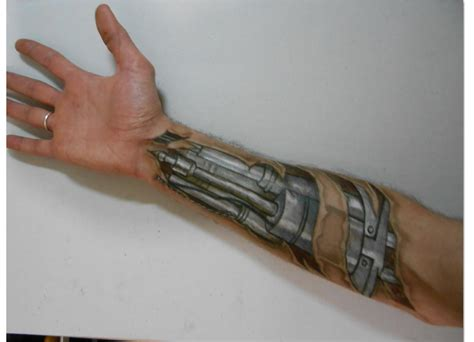draw tattoo on your arm drawing arm automaton robot trick art time lapse youtube
