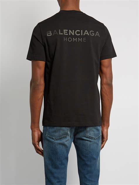 Tshirt Hoover Alba Match Item lyst balenciaga logo print cotton t shirt in black for