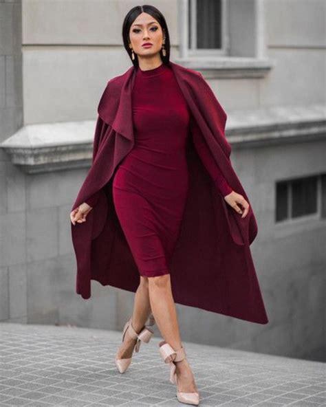 wine colored coat coat burgundy wine waterfall coat coat