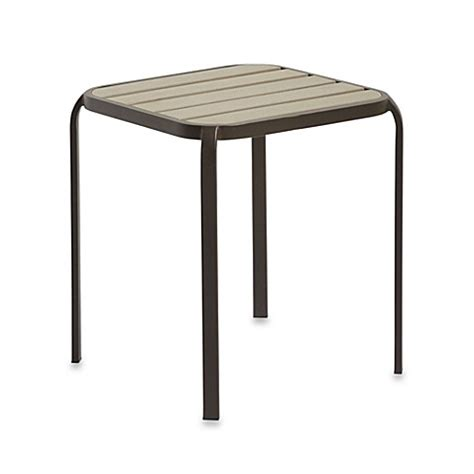 Bathroom Accent Table Resin Wood Accent Table In Bronze Bed Bath Beyond
