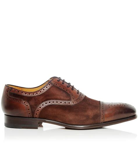 leather oxford shoes for magnanni brown leather suede oxford shoes available at