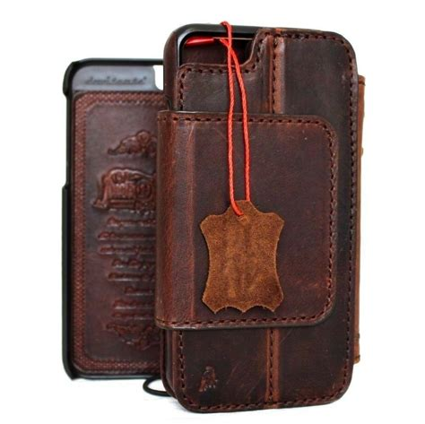 genuine real leather case  iphone   wallet cover