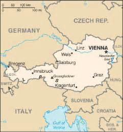 Austria On World Map by Major Cities In Austria Map