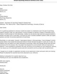 Computer Assistant Cover Letter by Psychology Research Assistant Cover Letter Free Cover Letter