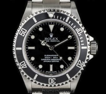 rolex stainless steel o p 4 line non date submariner b p