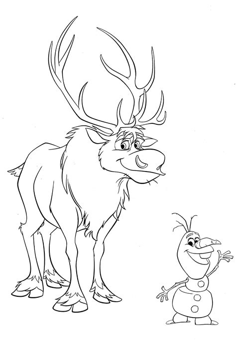 free coloring pages of olaf and wite