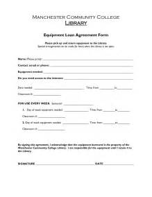 Sle Agreement Letter For Lending Equipment Free Printable Loan Agreement Form Form Generic