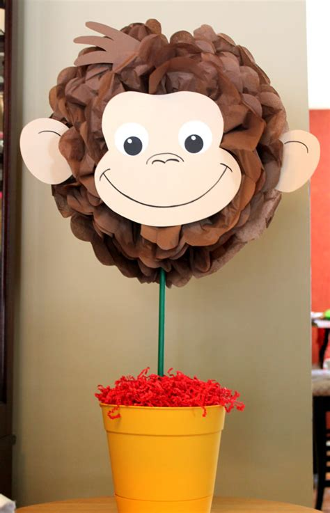 curious george centerpiece kit