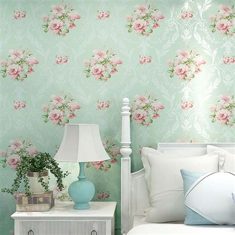 Fashion 3d Home Decor Beautiful Brick Pink Flower Custom Modern 3d Mural Wallpaper European Style 3d Stereoscopic Wall Paper For Walls Blue Pink Floral