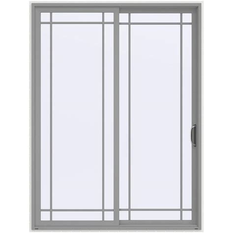 Sliding Vinyl Patio Doors Jeld Wen 72 In X 96 In V 4500 Vanilla Prehung Right Sliding 9 Lite Vinyl Patio