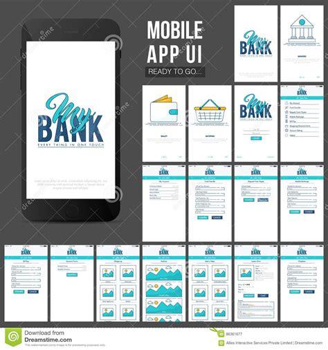 design online mobile online banking mobile apps ui design stock image image
