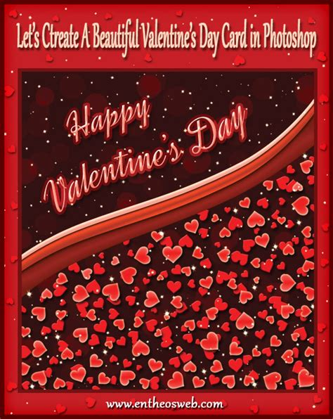 photoshop valentines day card templates hearts s day card tutorial in photoshop entheos