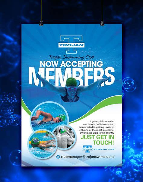 design poster uk colorful upmarket poster design for trojan swimming club